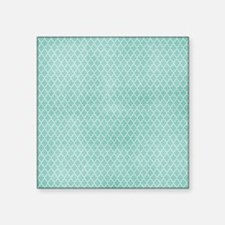 Teal Lattice Vintage Look Sticker