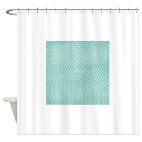 Teal Lattice Vintage Look Shower Curtain by T4Tbathroom ts