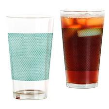 Teal Lattice Vintage Look Drinking Glass