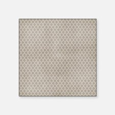 Beige Lattice Vintage Look Sticker