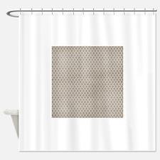 Beige Lattice Vintage Look Shower Curtain