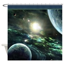 Outer Space Another World SC Shower Curtain