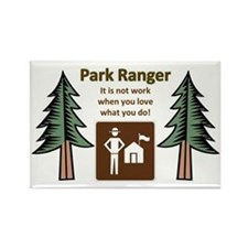 Park Ranger Tree Rectangle Magnet