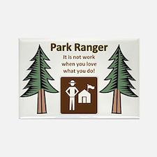 Park Ranger Tree Rectangle Magnet