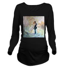 Wedding Dance Art Long Sleeve Maternity T-Shirt