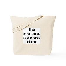 soprano right Tote Bag