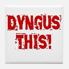 Dyngus This (Red Block) Tile Coaster