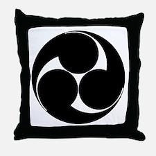 Three clockwise swirls Throw Pillow