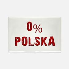 0% Polska (Red) Magnets