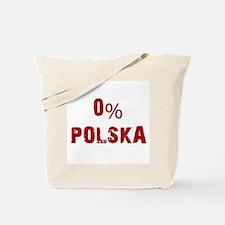 0% Polska (Red) Tote Bag