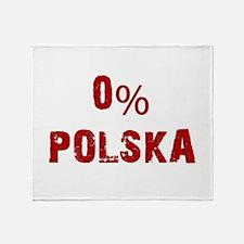 0% Polska (Red) Throw Blanket