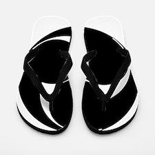 Three clockwise swirls Flip Flops