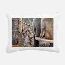 angry monkey Rectangular Canvas Pillow
