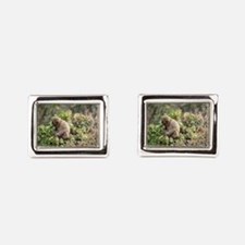 tree monkey Rectangular Cufflinks