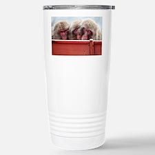 three wise monkeys Stainless Steel Travel Mug