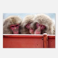 three wise monkeys Postcards (Package of 8)
