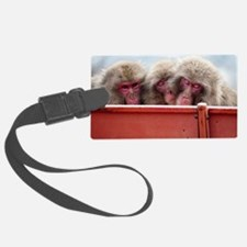 three wise monkeys Luggage Tag