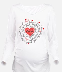 For God So Loved the Long Sleeve Maternity T-Shirt