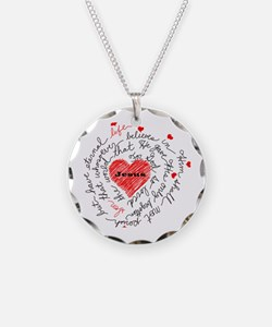 For God So Loved the World Necklace Circle Charm