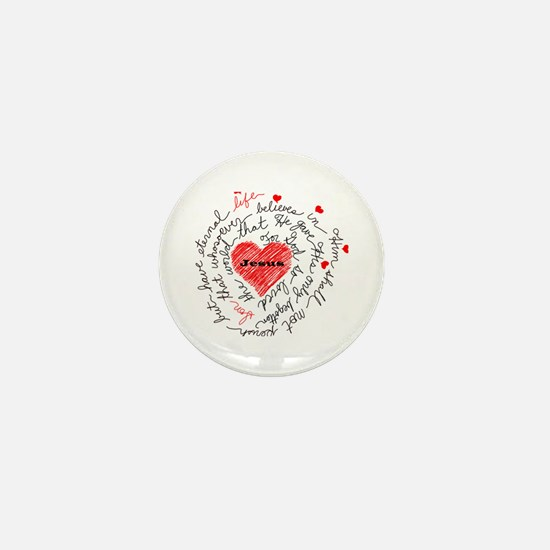 For God So Loved the World Mini Button