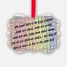 learn from crayons.jpg Ornament
