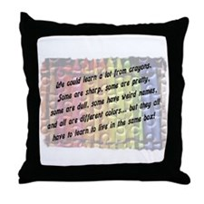 learn from crayons.jpg Throw Pillow