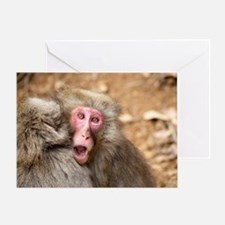 angry monkey Greeting Card
