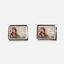 two monkeys Rectangular Cufflinks