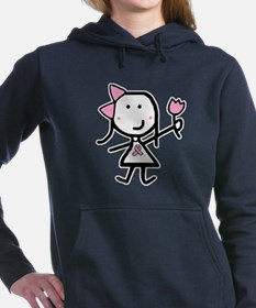 Girl & Pink Ribbon Women's Hooded Sweatshirt