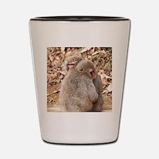 cuddling monkeys Shot Glass