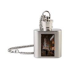 akihabara night shopping Flask Necklace