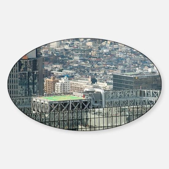low rise tokyo Sticker (Oval)