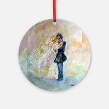 Wedding Dance Designer Art Ornament (Round)