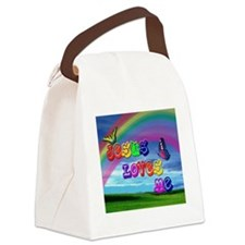 Jesus Loves Me Canvas Lunch Bag