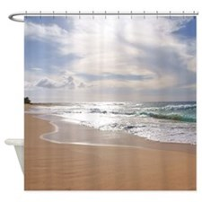Sandy Beach Hawaii Tropical Shower Curtain