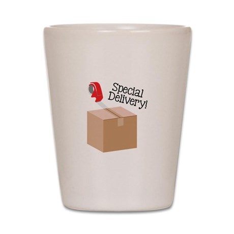 Special Delivery Shot Glass