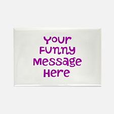 Four Line Dark Pink Message Magnets