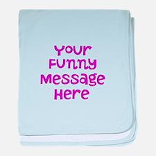 Four Line Dark Pink Message baby blanket