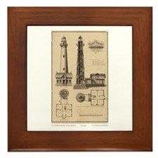 Assateague Light. Framed Tile