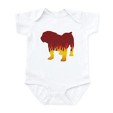 Bulldog Flames Infant Bodysuit