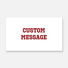 Two Line Custom Sports Message Rectangle Car Magne