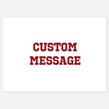 Two Line Custom Sports Message Invitations