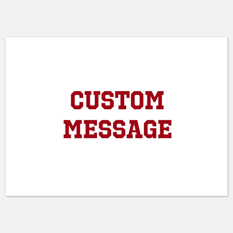 Two Line Custom Sports Message Invitations