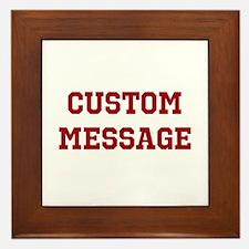Two Line Custom Sports Message Framed Tile