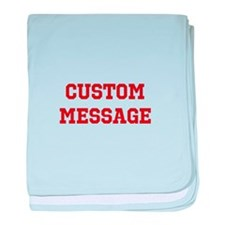 Two Line Custom Sports Message baby blanket