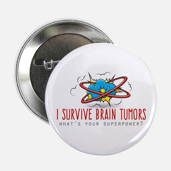 """I Survive Brain Tumors 2.25"""" Button"""