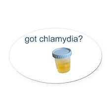 Got Chlamydia? Oval Car Magnet