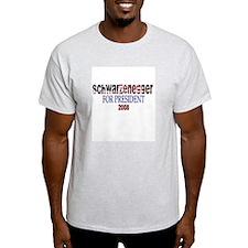 Schwarzenegger For President Ash Grey T-Shirt