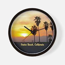 Personalized Venice Beach California Su Wall Clock