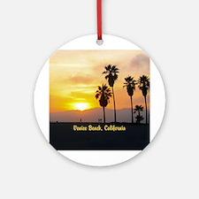Personalized Venice Beach Califor Ornament (Round)